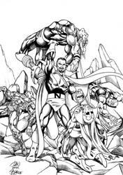 Nefaria vs the Avengers Byrne style