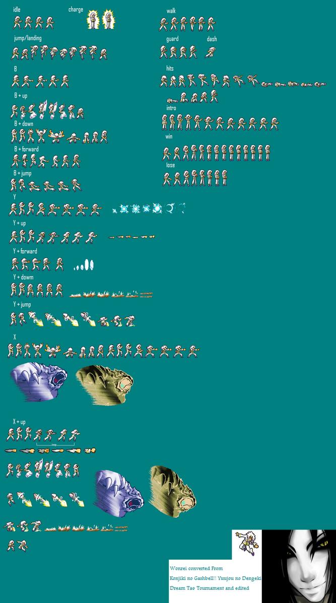 Wonrei Jus Style Complete Spritesheet by GodOrochimaro