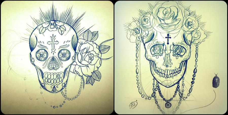 Unfinished Skulls 1. by nyona-xo