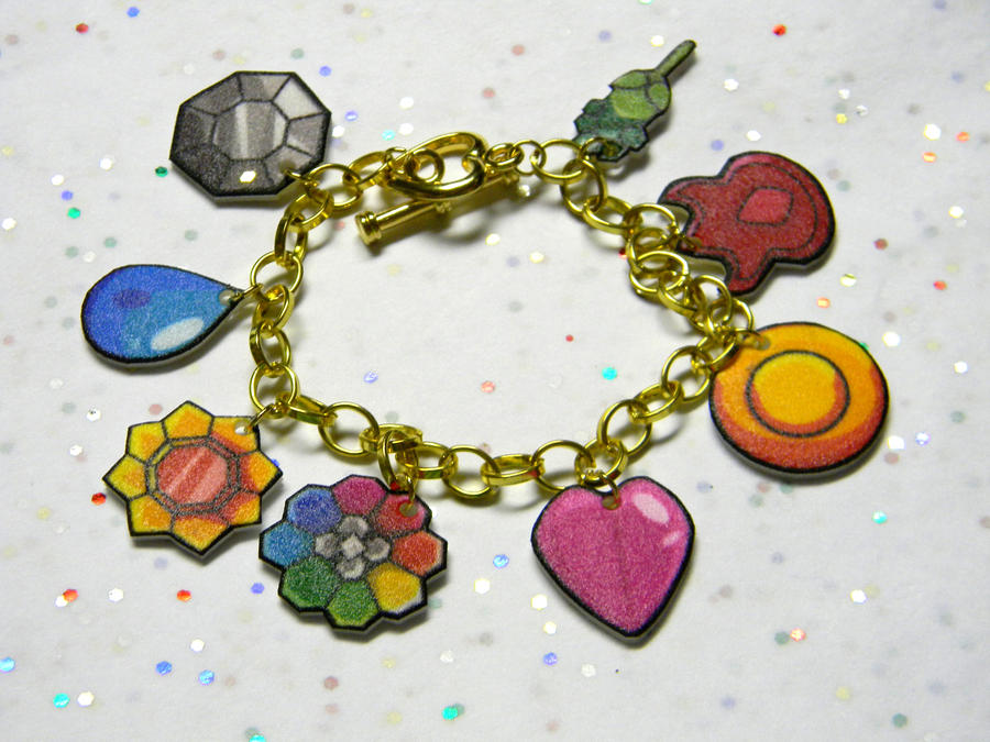 Pokemon Kanto badges bracelet by kouweechi