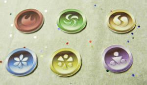 legend of zelda Six Medallions by kouweechi