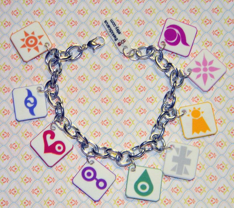 Digimon Crests Charm Bracelet by kouweechi
