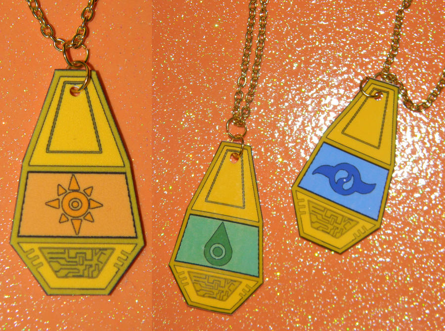Digimon Tag And Crest Necklace Example 1 By Kouweechi On