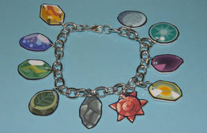 Pokemon Evolution Stones Bracelet by kouweechi