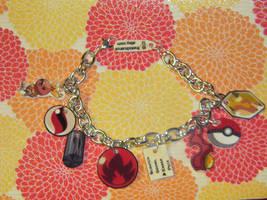 Custom hoenn fire charm bracelet by kouweechi