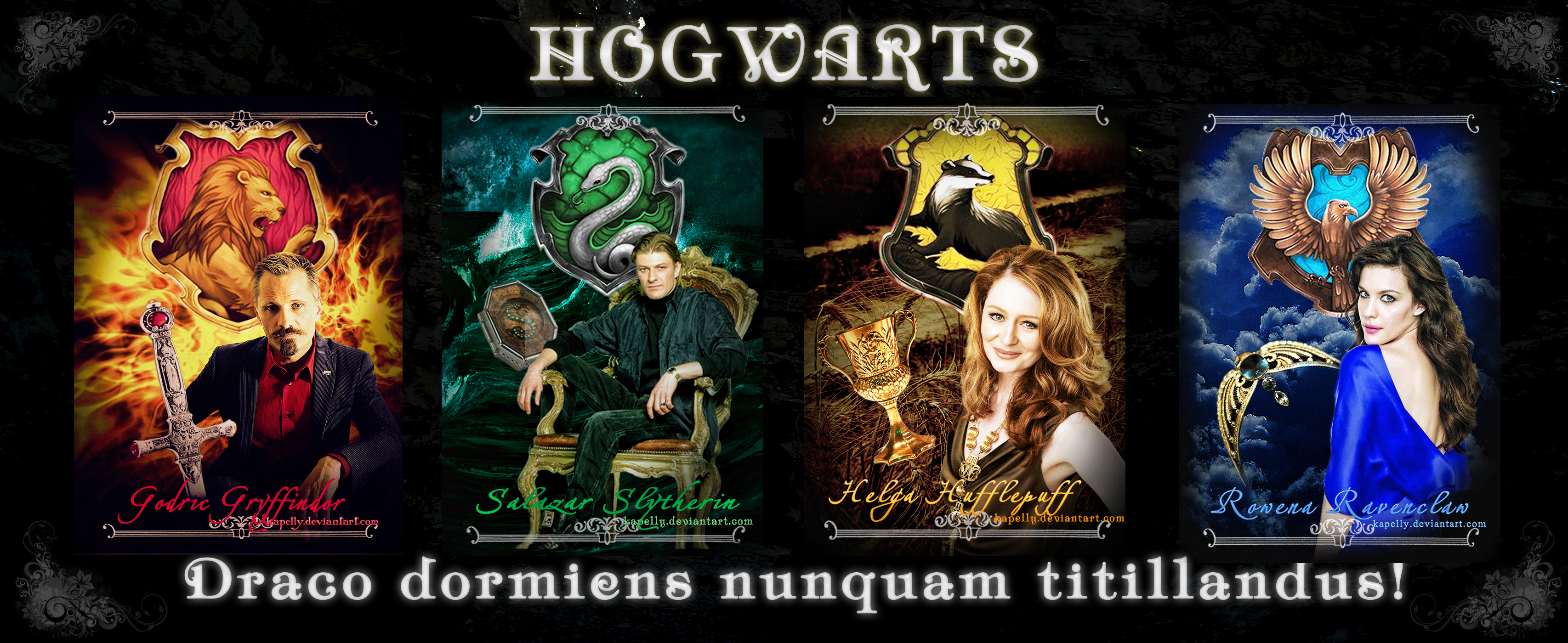 founders of Hogwarts by kapelly on DeviantArt