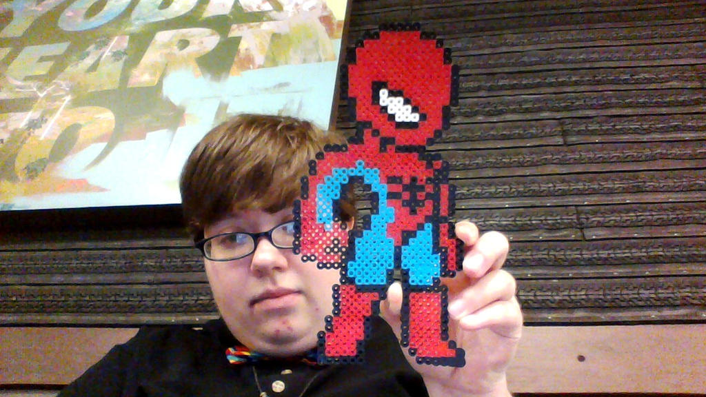 spiderman pixel for Lenny my date by HerHeart107