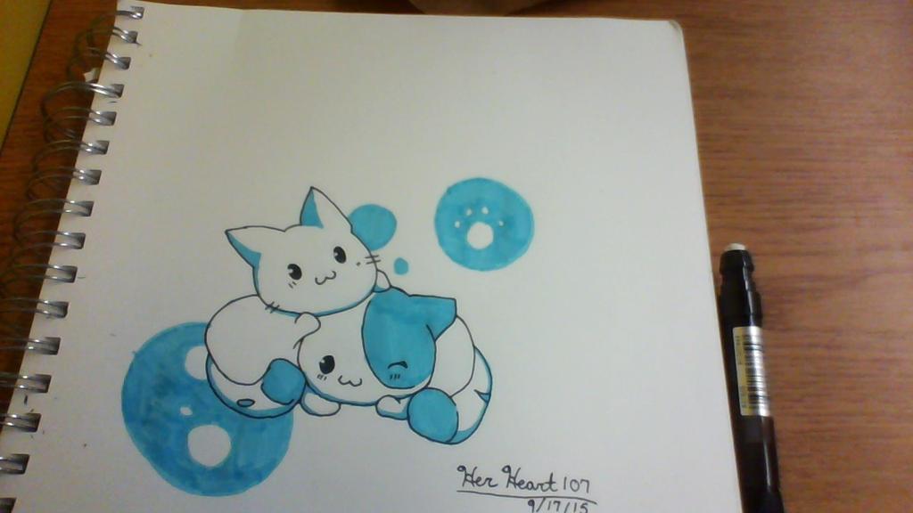 Two Kitties by HerHeart107