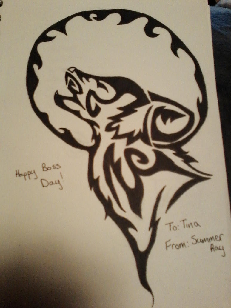native american wolf design by HerHeart107