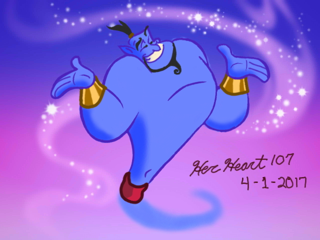 Genie from Aladdin by HerHeart107