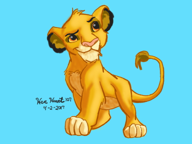 Simba from Lion King by HerHeart107