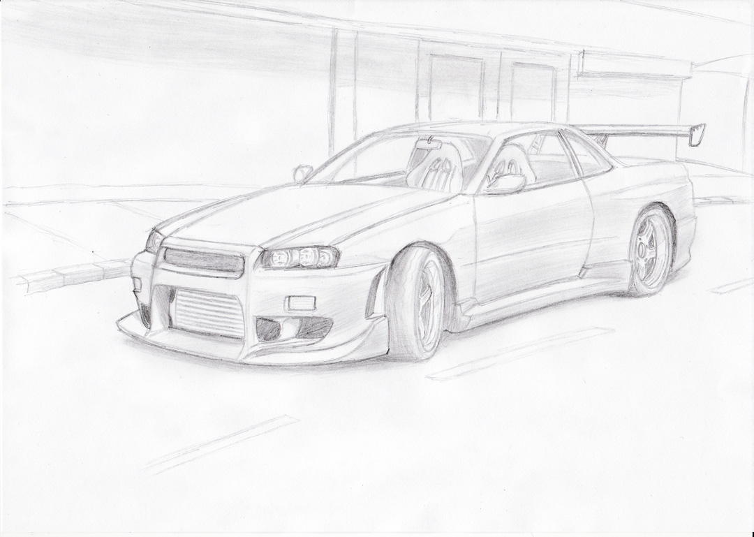 Nissan skyline by blackdoggdesign on deviantart for Coloring pages nissan gtr