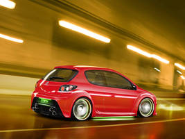 Peugeot 206 by blackdoggdesign