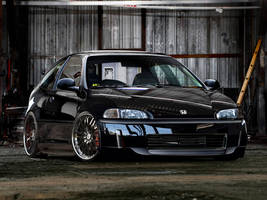 Honda Civic Black by blackdoggdesign
