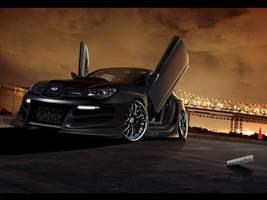 Subaru Impreza Matte Black by blackdoggdesign