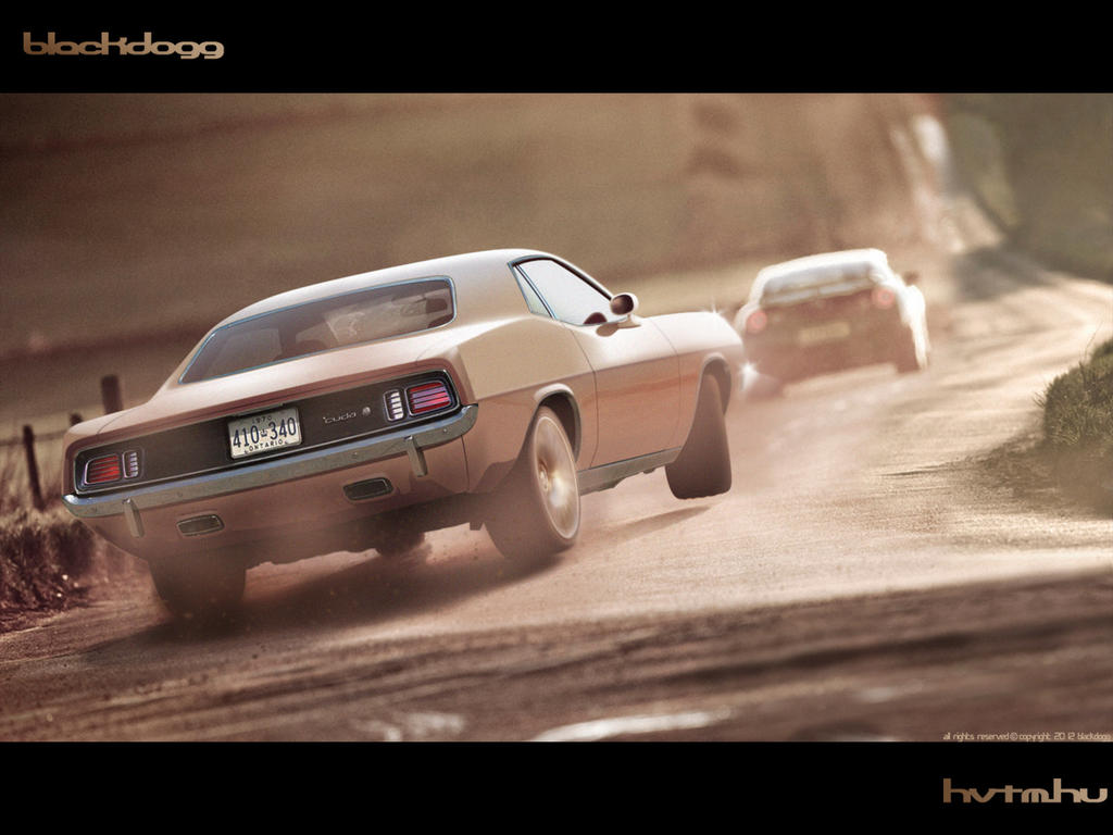 Plymouth Cuda by blackdoggdesign