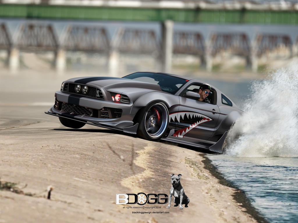 Ford Mustang Block by blackdoggdesign
