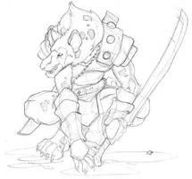 Gnoll sketch by Pachycrocuta
