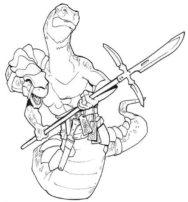 Serpentine warrior by Pachycrocuta