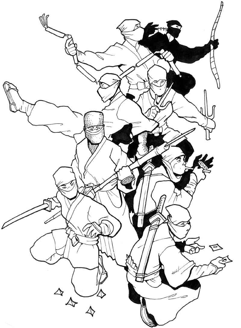 Page of ninja by Pachycrocuta