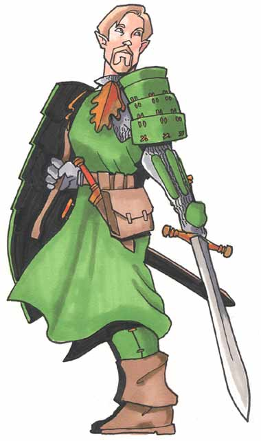 Half-elf paladin by Pachycrocuta