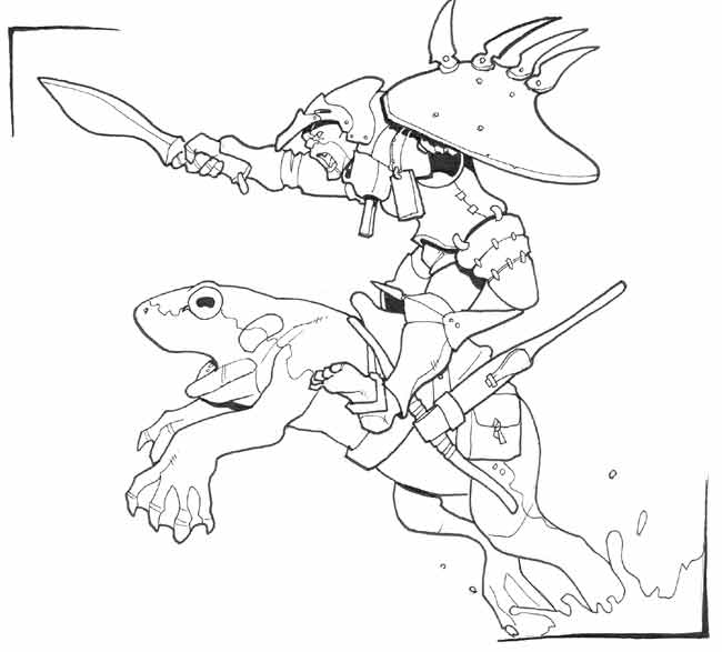 Goblin frog cavalry by Pachycrocuta