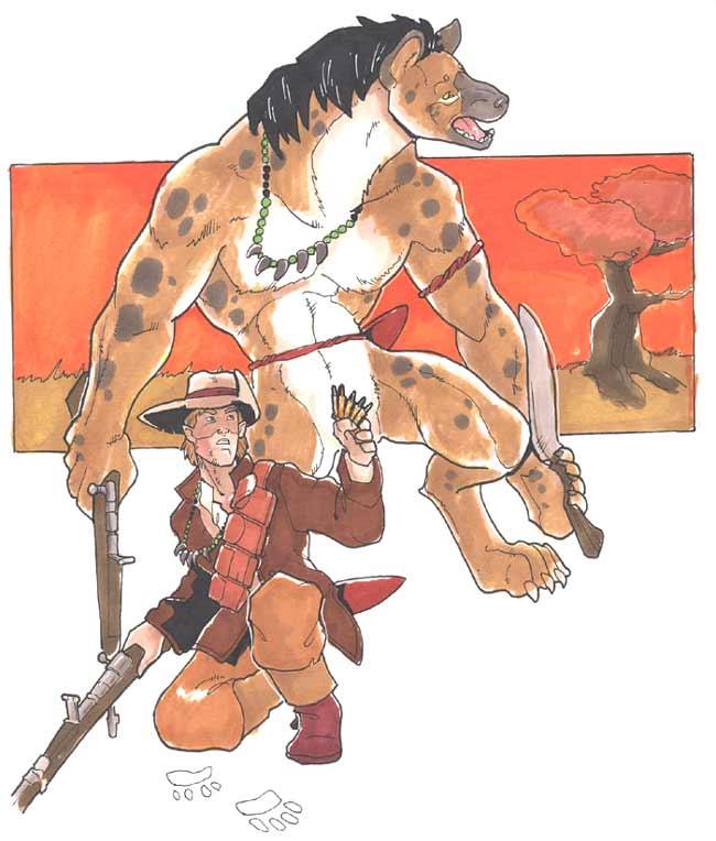 Ajaba lion-hunter by Pachycrocuta