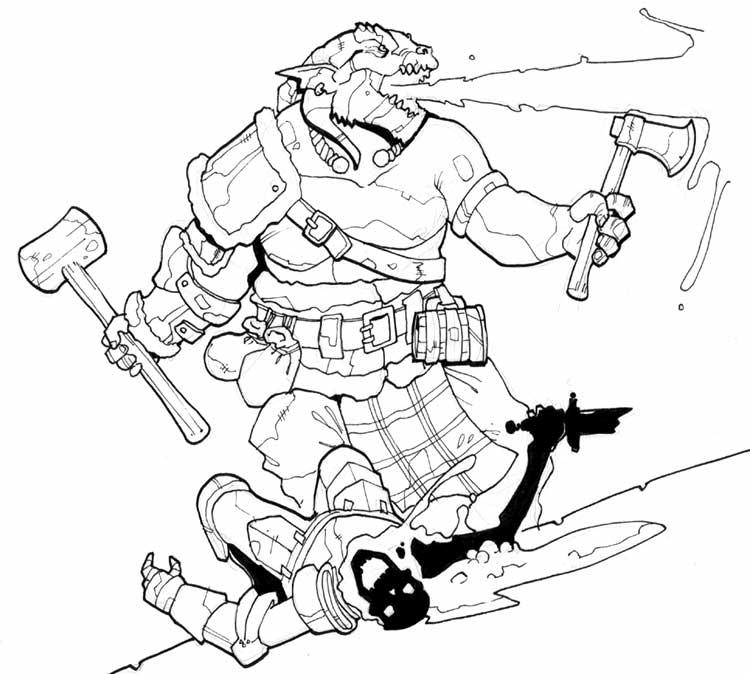 dragonborn barbarian by Pachycrocuta