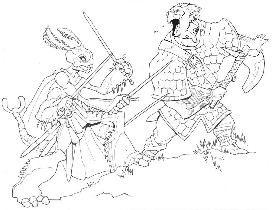 DnD anthros by Pachycrocuta