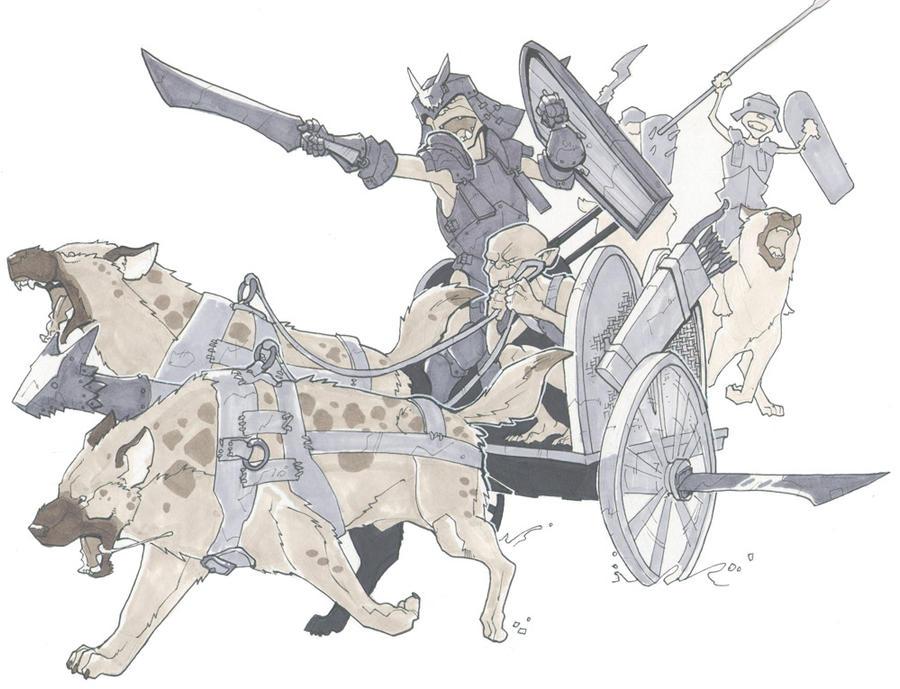 warg chariot by Pachycrocuta