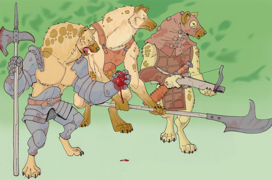 gnolls in the woods by Pachycrocuta