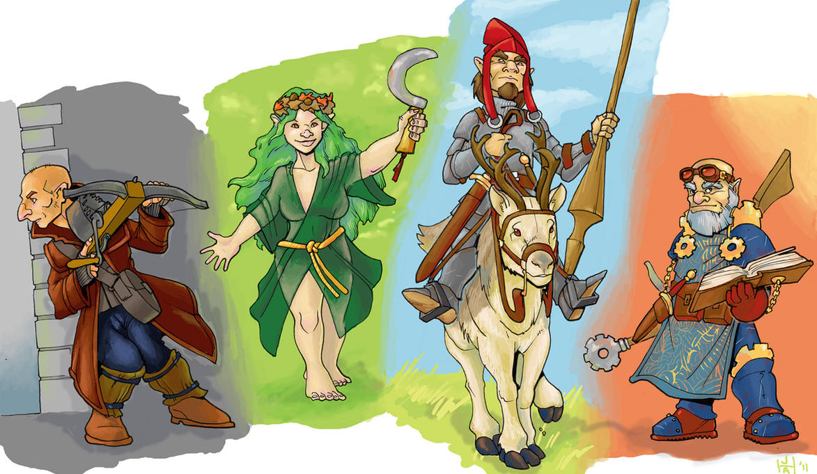 gnome characters by Pachycrocuta