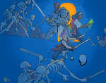 Skeleton fight