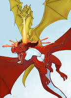 Gold versus red by Pachycrocuta