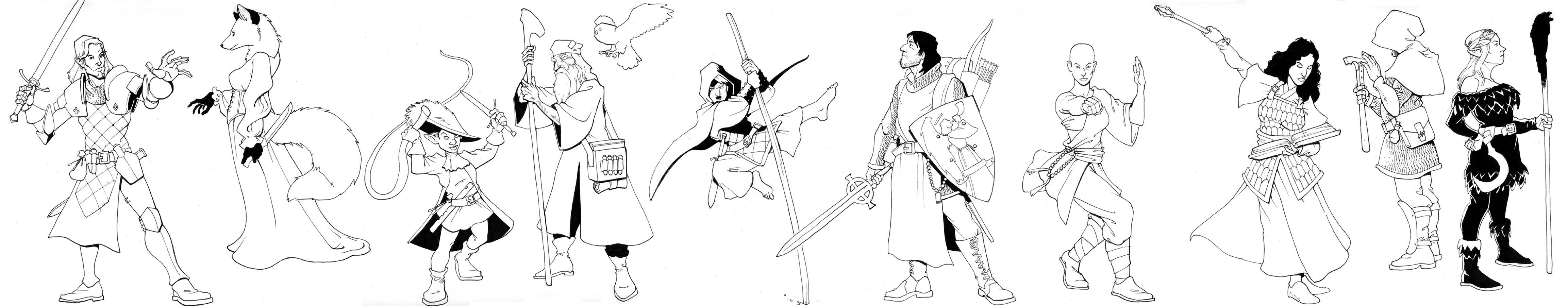 0803 DnD/Pathfinder sketches by Pachycrocuta