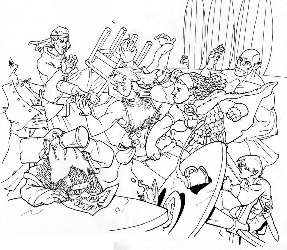 big burly bar brawl by Pachycrocuta