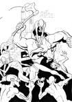 Minotaur vs ghouls by Pachycrocuta