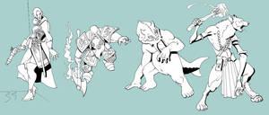 RPG adversaries by Pachycrocuta