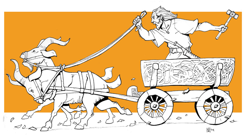 Inktober goat cart by Pachycrocuta
