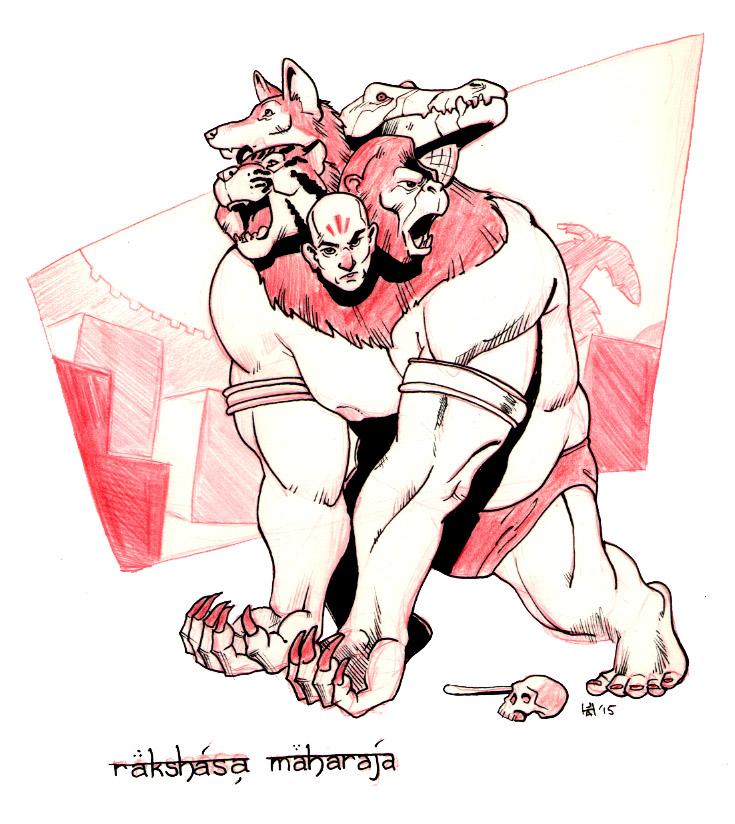 Rakshasa maharaja by Pachycrocuta