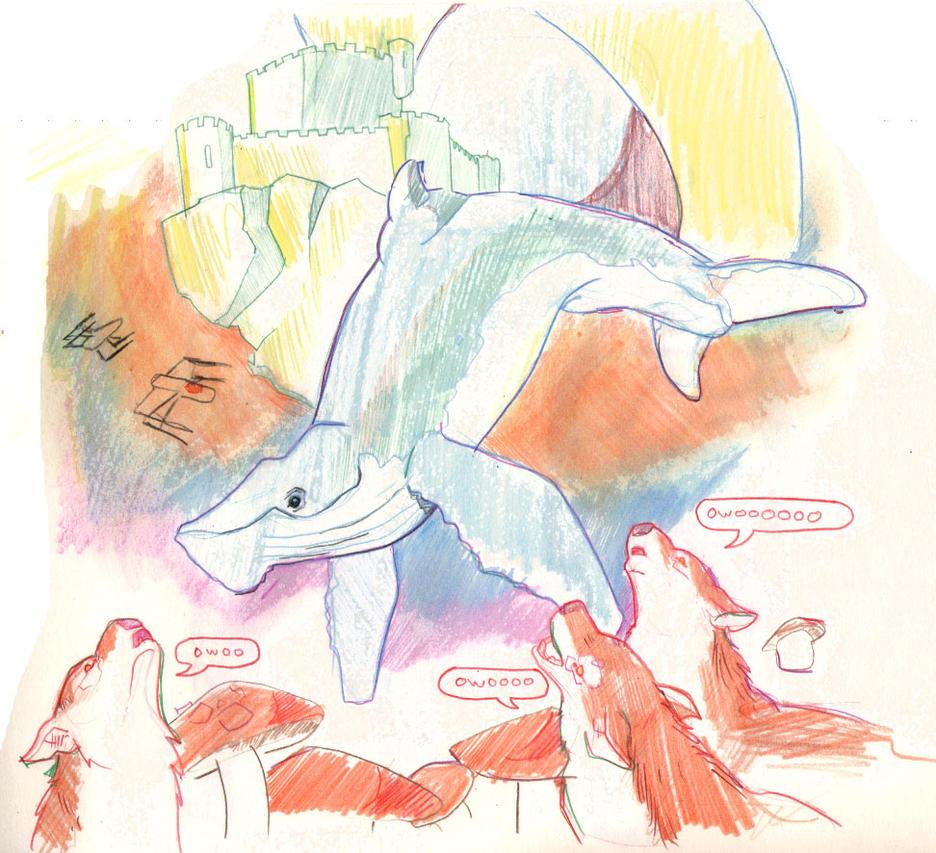 Three Dog Space Whale Night by Pachycrocuta