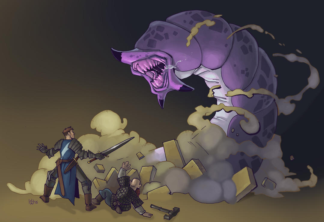 Giant tomb worm by Pachycrocuta