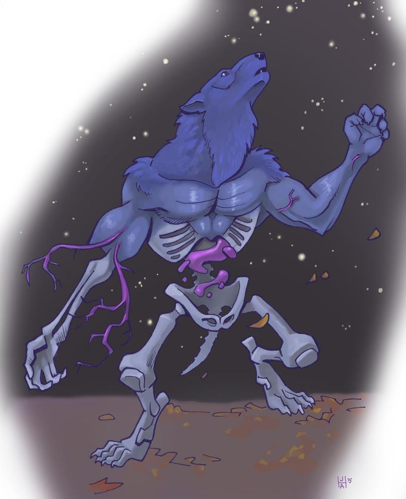Ghost werewolf by Pachycrocuta