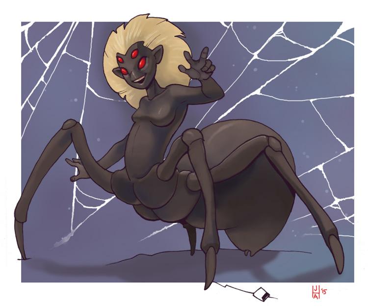 Chibi drider by Pachycrocuta