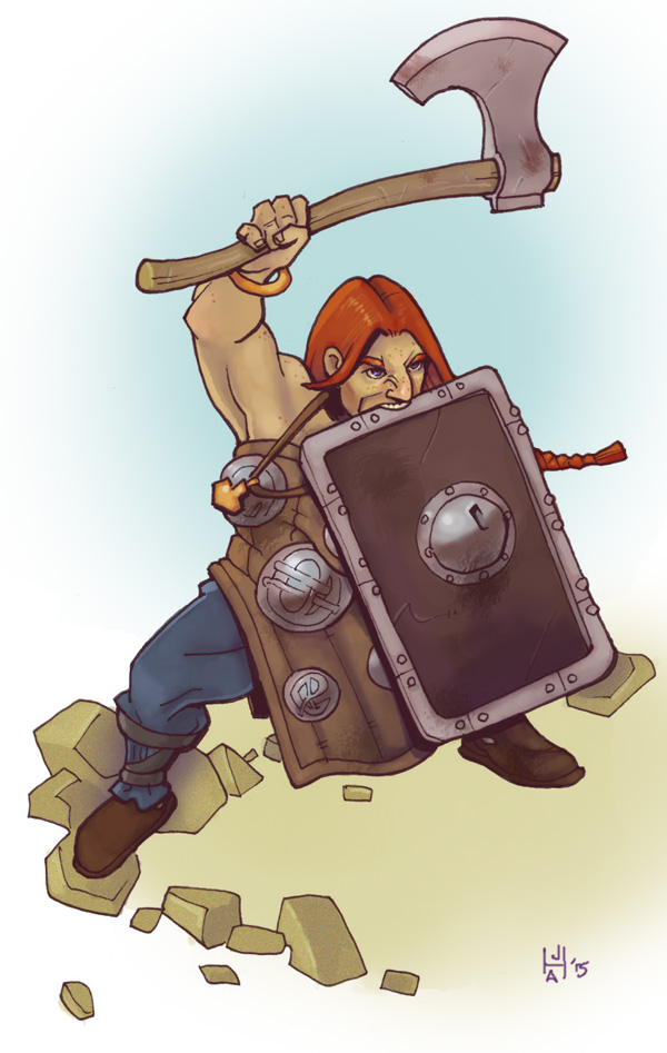 Dwarven barbarian/beserker by Pachycrocuta