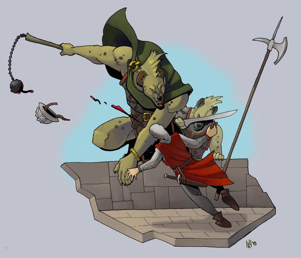 Gnoll assault by Pachycrocuta