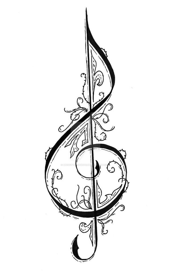 treble clef by mossythoughts on deviantart. Black Bedroom Furniture Sets. Home Design Ideas