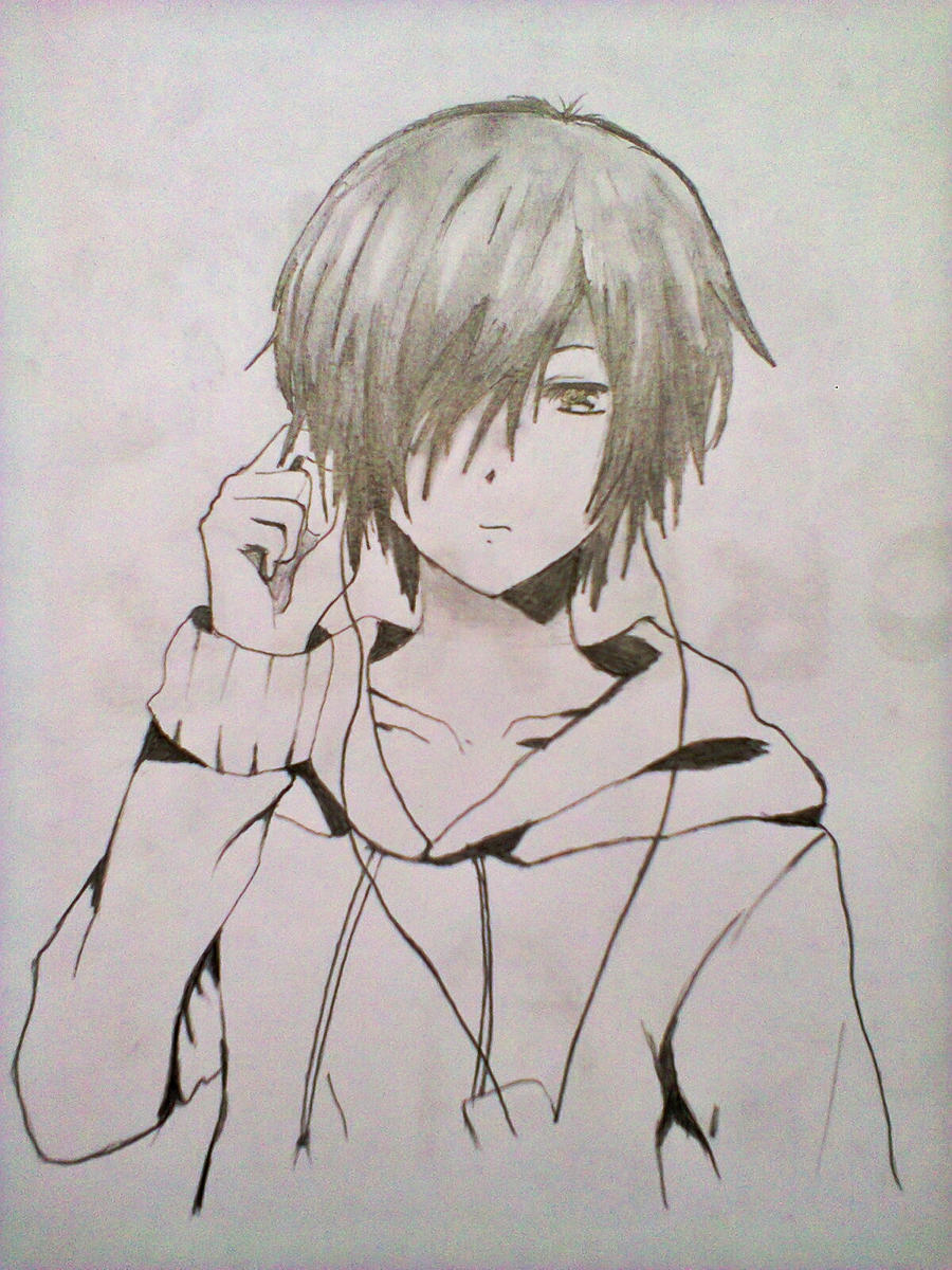 Cool anime guy 5th generation by xinje on deviantart for Cool easy anime drawings
