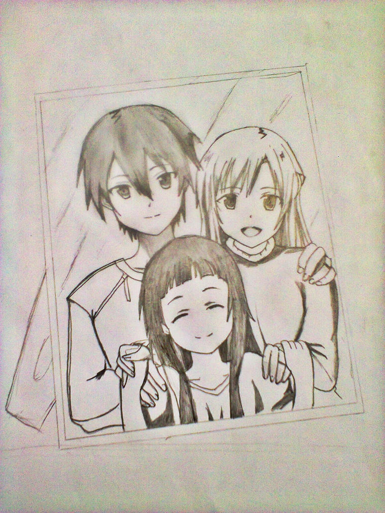 kirito's family (sao) by xinje on DeviantArt