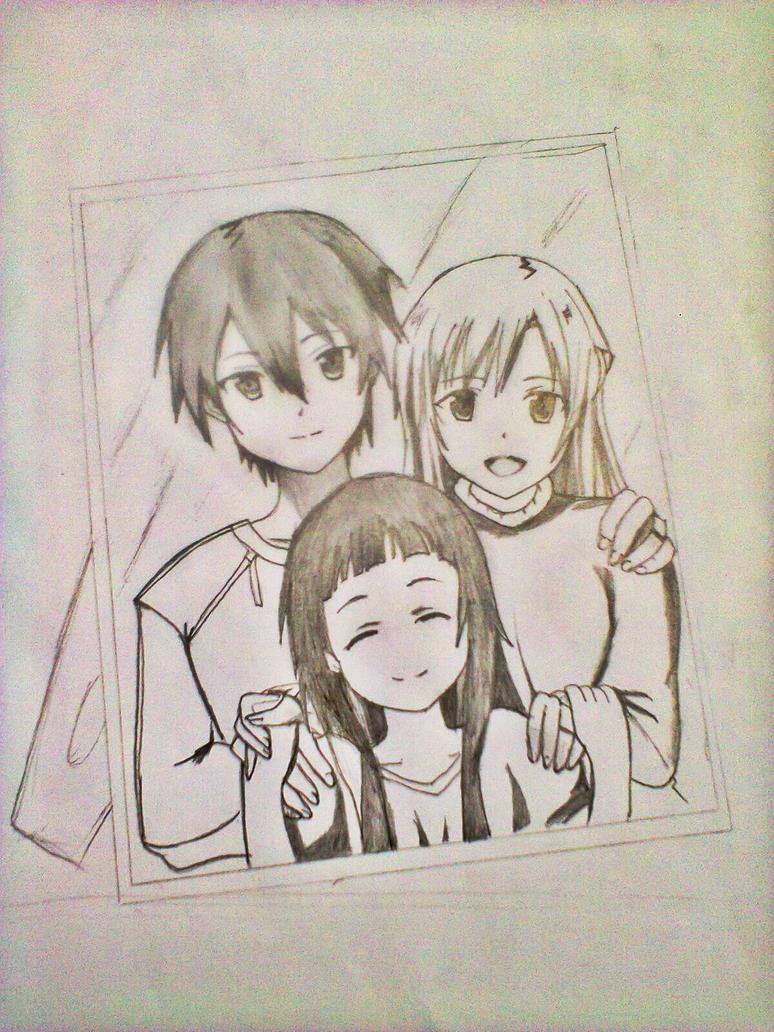 kirito's family (sao) by xinje on DeviantArt